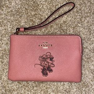 Minnie Mouse Coach wristlet